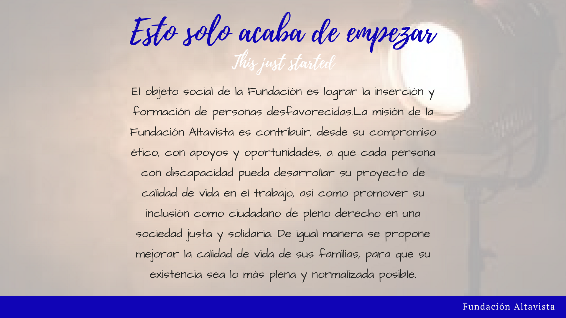 Fundación Altavitsa - Inicio